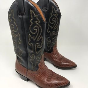 9268b6a413c Hunt Club Women s Leather Cowboy Boots Size 6.5 M